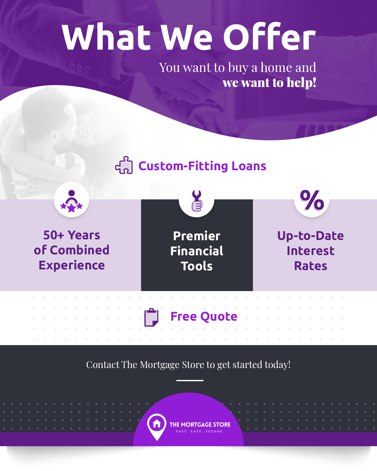 What we Offer infographic